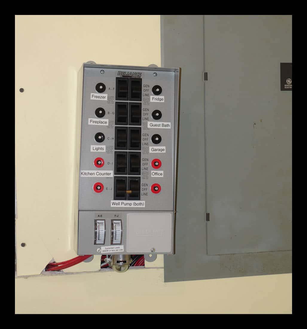 Powering the house via a portable generator - Derek Zeanah's